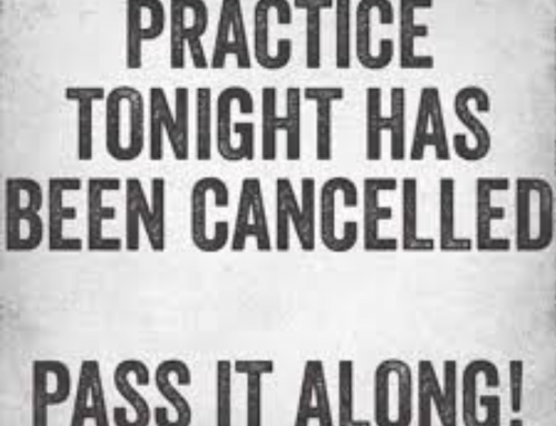 No practice tonight 1/14/20.
